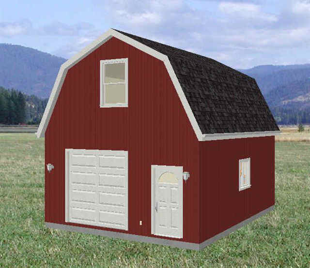 Info 20 x 24 gambrel shed plans gabret for Barn shed with loft plans