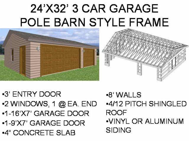 24x32 barn plans guide bikal for How to build a pole barn plans for free