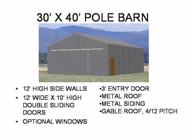 Pole Barn Engineered Plans Sds Plans