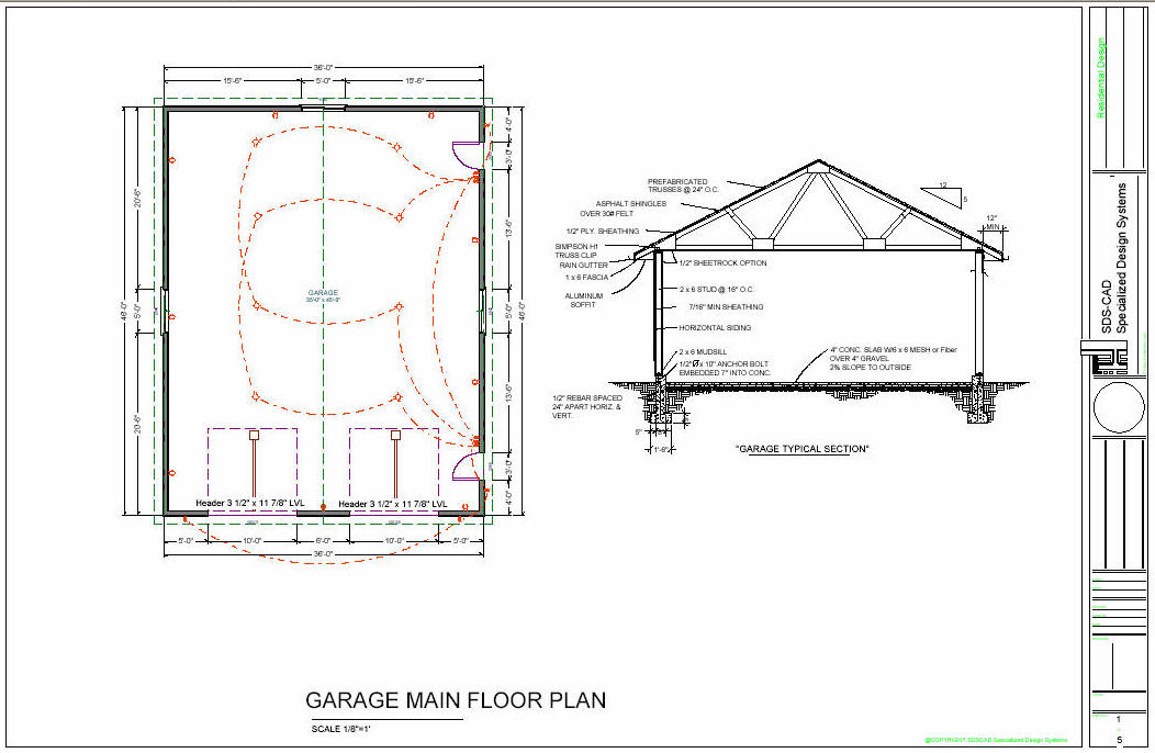 36 39 X 46 39 Workshop Garage Floor Plans Blueprints