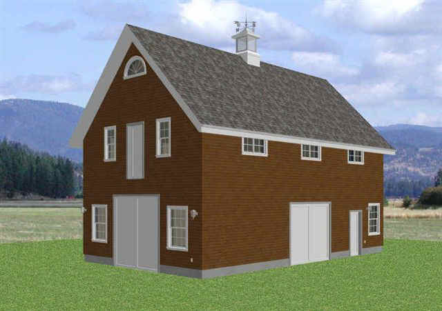 24 39 x 40 39 2 story barn workshop garage plans for 2 story workshop plans