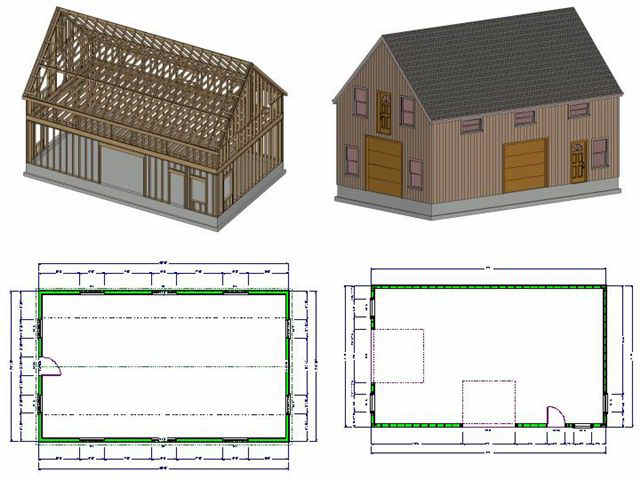Guide 2 story shed plans neks for Two story pole building plans