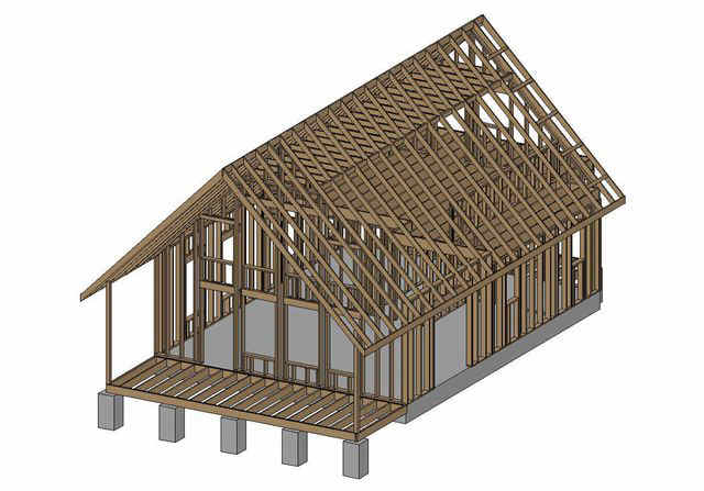 34 24 x 32 cabin with loft sds plans for How to build a small cabin with a loft