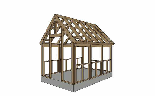 Wood Frame Greenhouse Plans Free