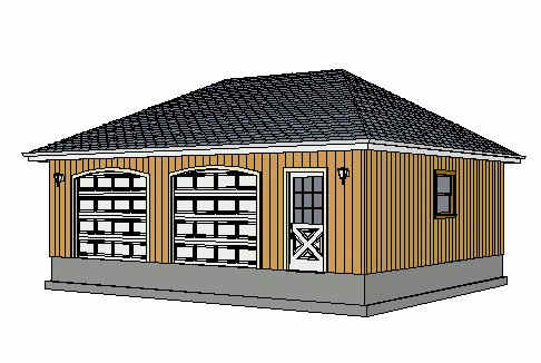 Hip roof garage plan house plans home designs for Hip roof garage plans