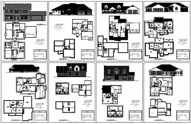 Dwg pdf house plans house design plans for Complete set of architectural drawings pdf