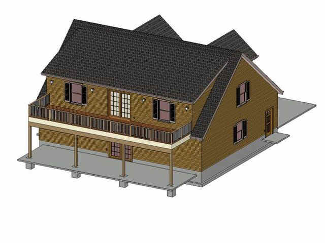 59 36\' x 44\' Cape Cod 4 Car Garage Apartment | SDS Plans