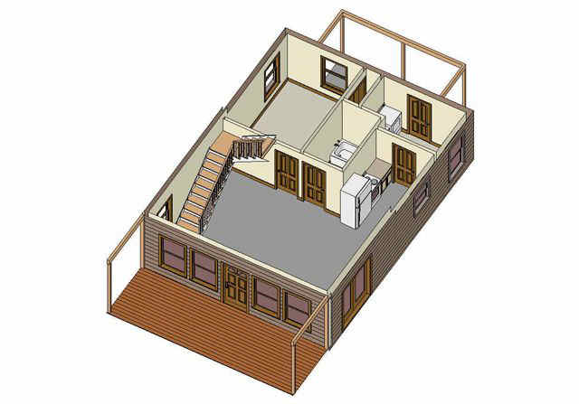 Cabin Floor Plans Loft ... main3d.jpg (110291 bytes) ...