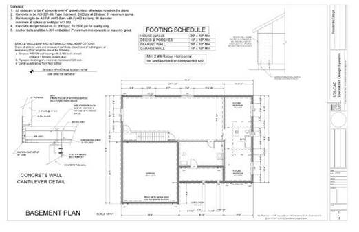 Complete plan of a house