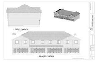 4 Plex Condominium Apartment Plans Blueprints