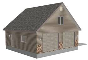 G423a Plans 30 X 30 X 9 Detached Garage With Bonus Room
